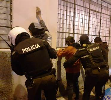 Trabajo de la Policial Nacional en Inbabura